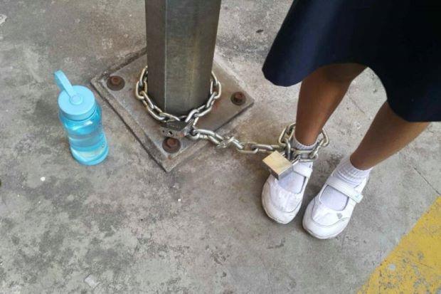 Polis Siasat Kes Ibu Rantai Anak Enggan Ke Sekolah