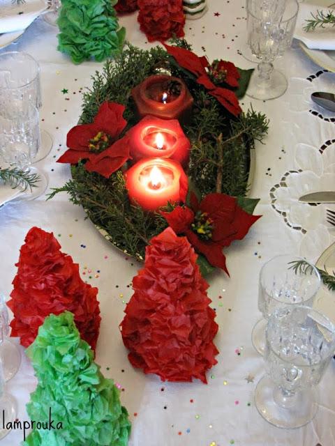 Χριστουγεννιάτικα δεντράκια από χαρτί.