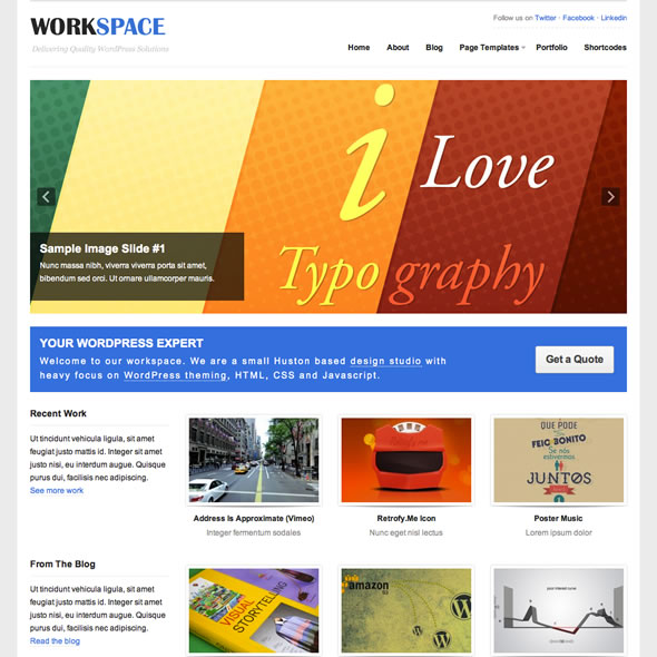 Workspace Wordpress Theme