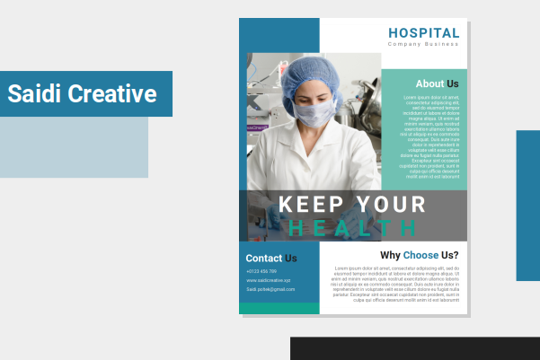 Health Care Flyer Template Free Download on Microsoft Word File