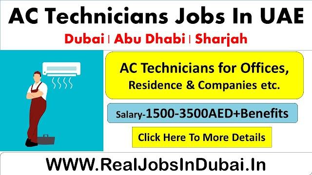 AC Technicians Jobs In Dubai - UAE