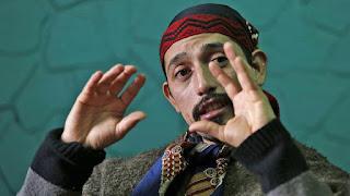 Jones Huala desde la cárcel, en Esquel, donde espera saber si será extraditado a Chile, el líder mapuche advierte sobre el aumento de la violencia de grupos originarios si no logra permanecer en el país. Foto: LA NACION / Mauro V. Rizzi / Enviado especial