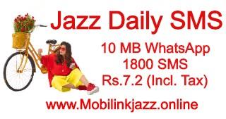 Jazz Daily SMS Package and WhatsApp Updated | Techhaddi