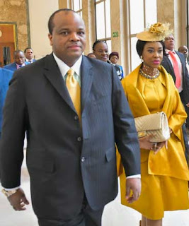 His Majesty King Ingwenyama Mswati III of Eswatini and his 19th wife