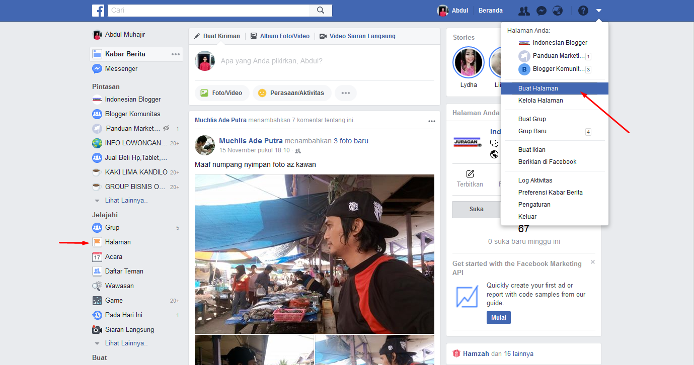 Cara Membuat Halaman Facebook Untuk Bisnis