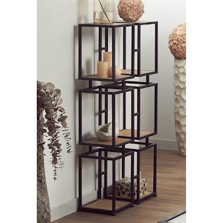 estanteria de forja y madera diseños actuales