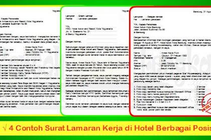 4 Contoh Surat Lamaran Kerja di Hotel Berbagai Posisi Menarik