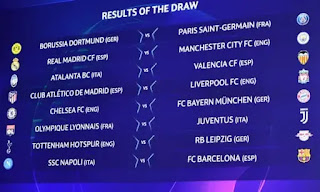 UCLDRAW: Chelsea To Face Bayern Munich As Pep Is Up Against Zidane (Photo)