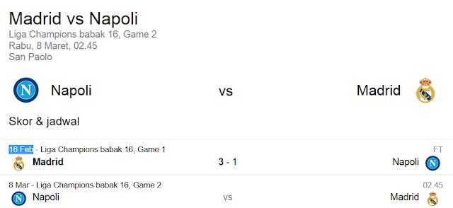 Prediksi Skor SSC Napoli VS Real Madrid | Polisibola.com