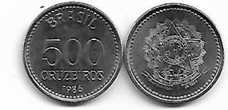 Moeda de 500 Cruzeiros, 1986