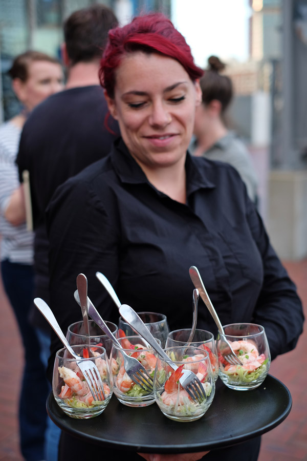 Prawn cocktails at the 2020 program launch Australian Maritime Museum Sydney