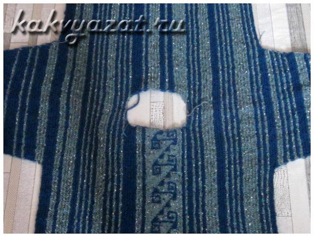 Вязание джемпера одним полотном: от рукава до рукава.
