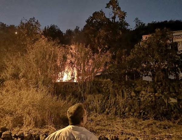 Conato de incendio en Barranco de Las Madres, Gran Canaria
