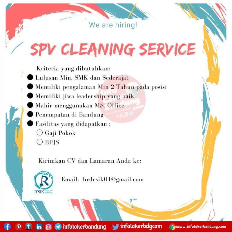 Lowongan Kerja SPV Cleaning Service PT Berkat Resik Raharja Bandung Agustus 2021