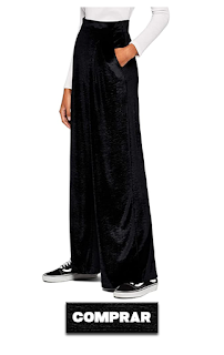 Pantalon negro de mujer, Palazzo