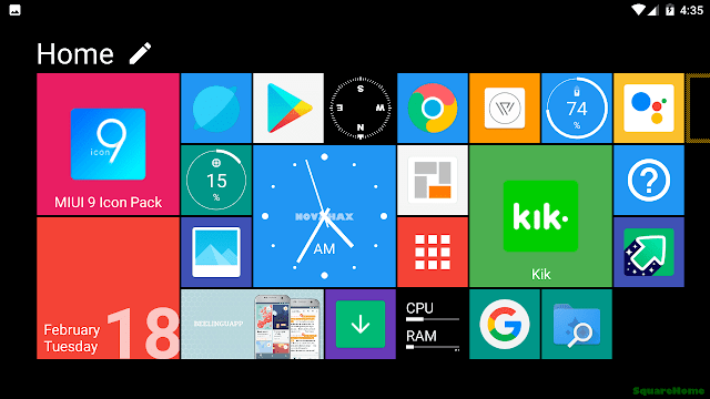 squarehome key launcher windows style free download