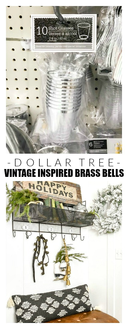 DIY Dollar Tree vintage inspired brass bells