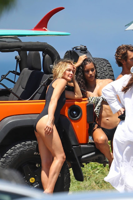 Lara Bingle – Photoshoot candids on top of a Jeep in Sydney