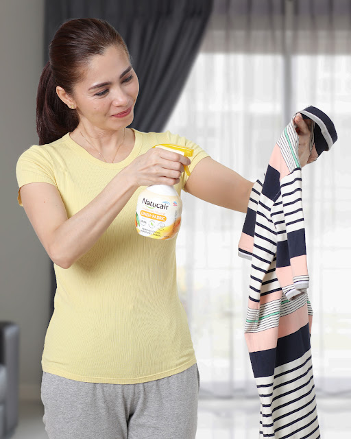 Filipinos can make a daily routine of spraying down their shirts, pants, and other fabrics in their outfits including the inner cloth linings of shoes with Natucair.