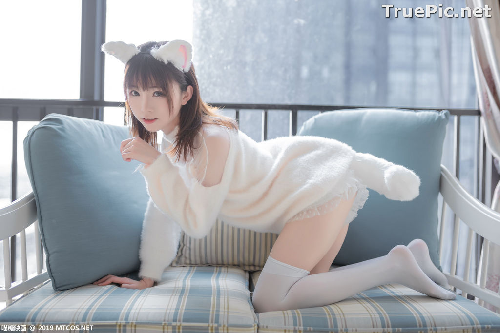 Image [MTCos] 喵糖映画 Vol.027 – Chinese Cute Model – Beautiful White Cat - TruePic.net - Picture-9
