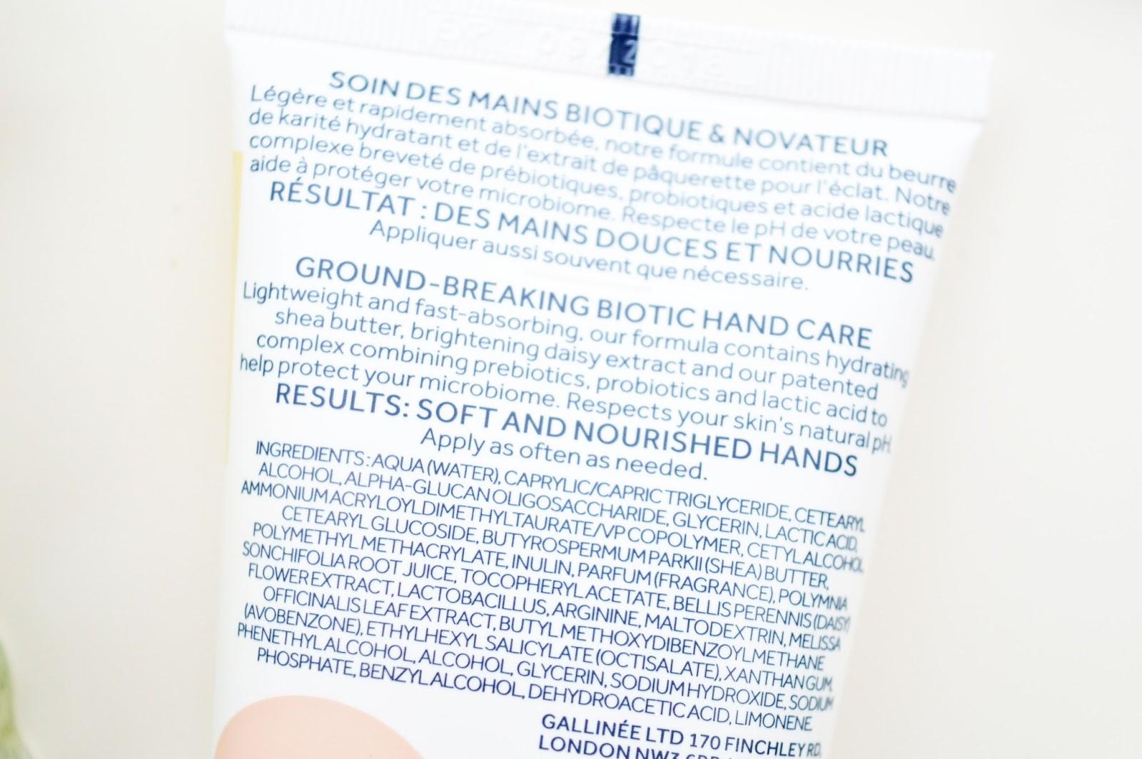 Gallinée La Culture Hand Cream