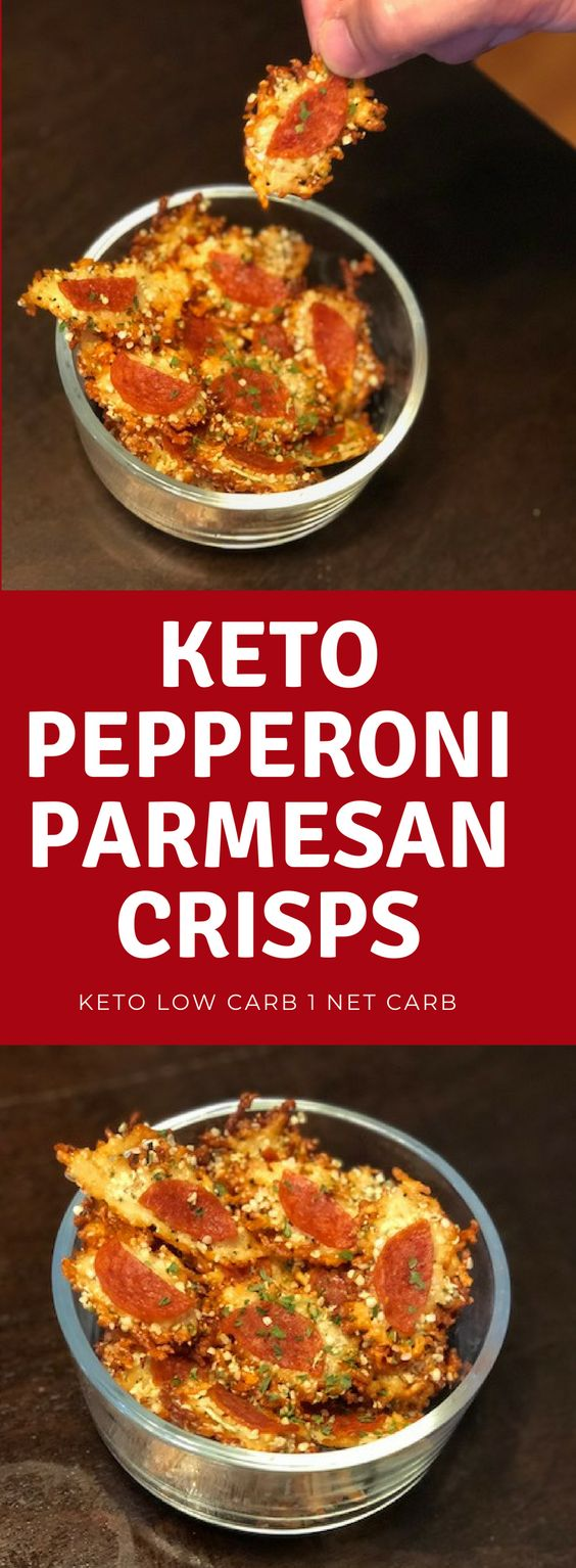 Keto Pizza Parmesan Crisps (1 Net Carb)