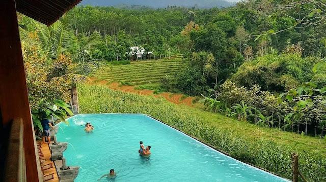 Pemandangan di Villa Kampoeng Djawi Wonosalam Jombang