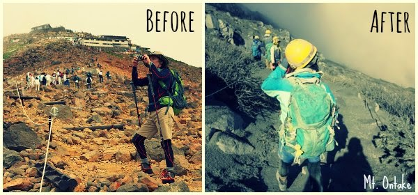 Before and After photos of Mt Ontake Volcanic Eruptions in Japan via geniushowto.blogspot.com Natural disaster scene-1