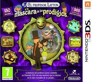 El profesor Layton y la máscara de los prodigios, 3DS, español, mega, mediafire