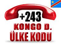 +243 Kongo Demokratik Cumhuriyeti ülke telefon kodu