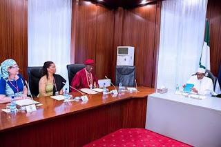 President Buhari meets Niger-Delta dialogue team