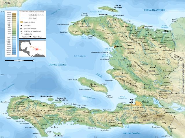 Carte d'Haïti