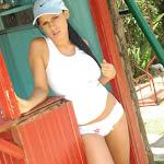 Andrea Rincon, Selena Spice Galeria 33: Gorra Azul, Cachetero Azul Foto 43