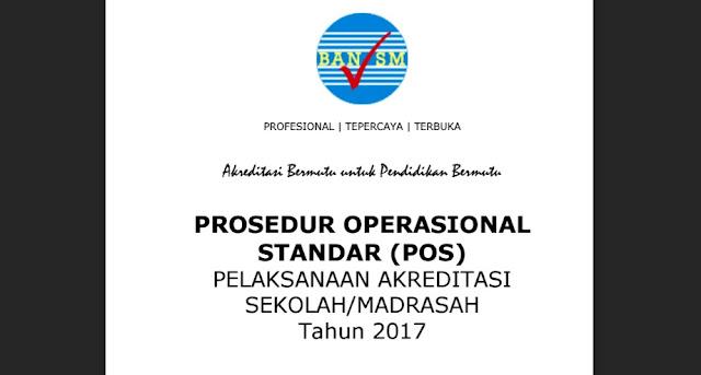 PROSEDUR OPERASIONAL STANDAR (POS) PELAKSANAAN AKREDITASI SEKOLAH/MADRASAH TAHUN 2017