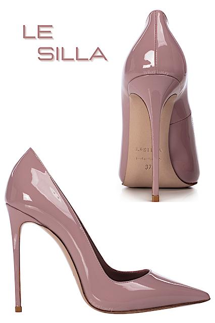 Le Silla Eva Paris pink patent leather pump #lesilla #shoes #brilliantluxury