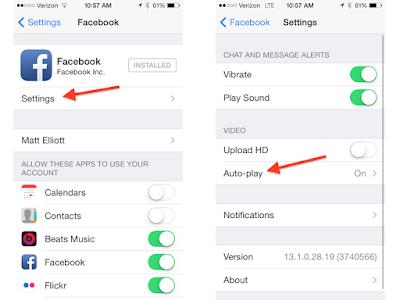 facebook autoplay iOS