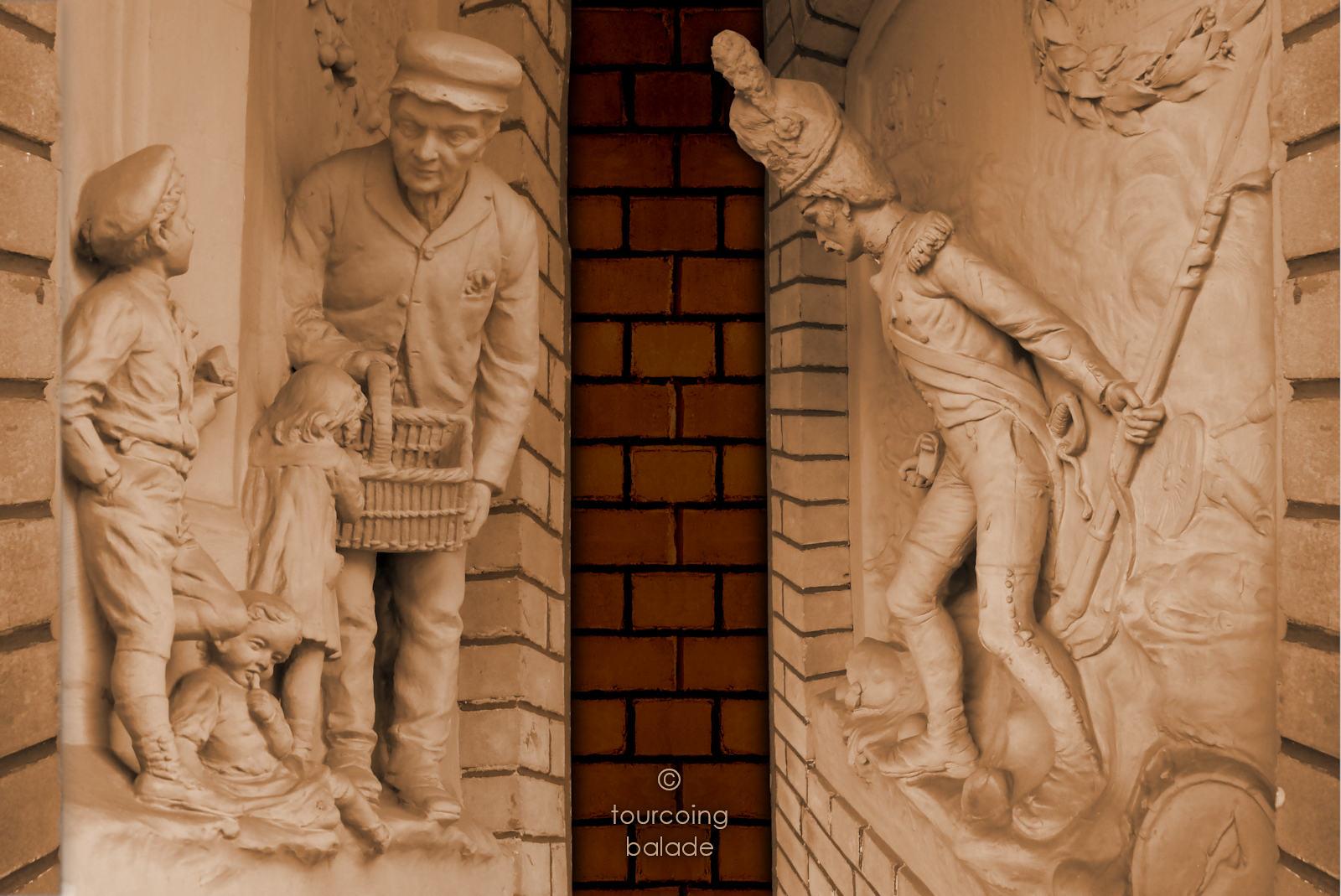Sculptures Jules Clamagirand - Maison du Broutteux, Tourcoing