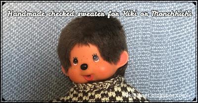 kiki monchhichi tricot knitting handmade fait main clothes vêtement doll poupée