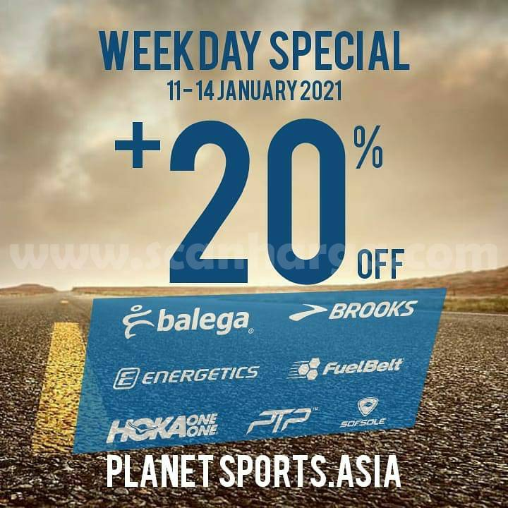 Planet Sports Promo Weekday Special + Disc. 20% Off