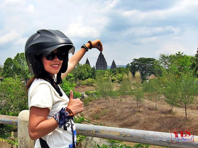 Prambanan from Candi Plaosan