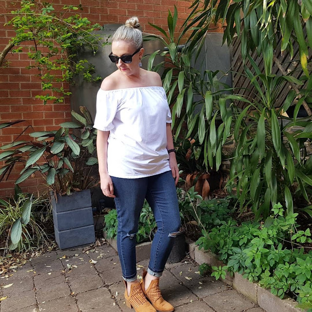 Philosophy white fringe top | Almost Posh