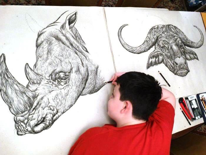 12-Rhinoceros-Rhino-and-Buffalo-Dušan-Krtolica-No-Reference-Drawings-come-from-Memory-www-designstack-co