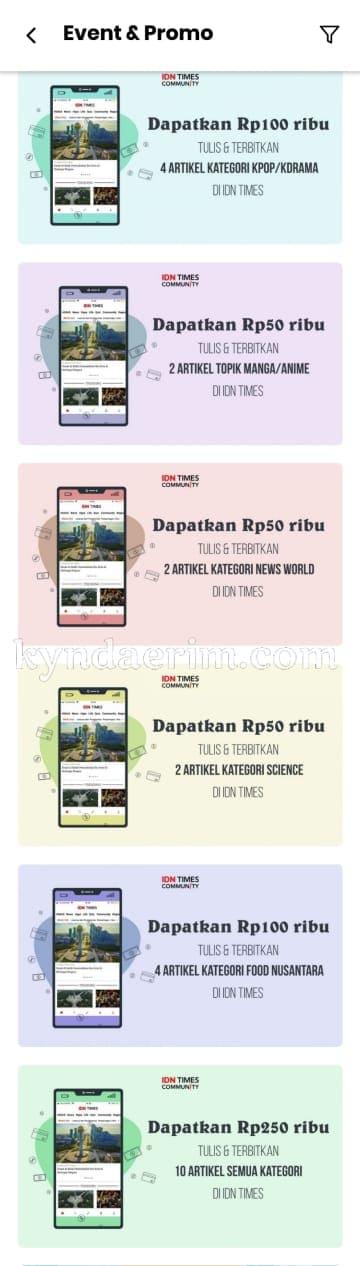 IDN App Fitur Event & Promo
