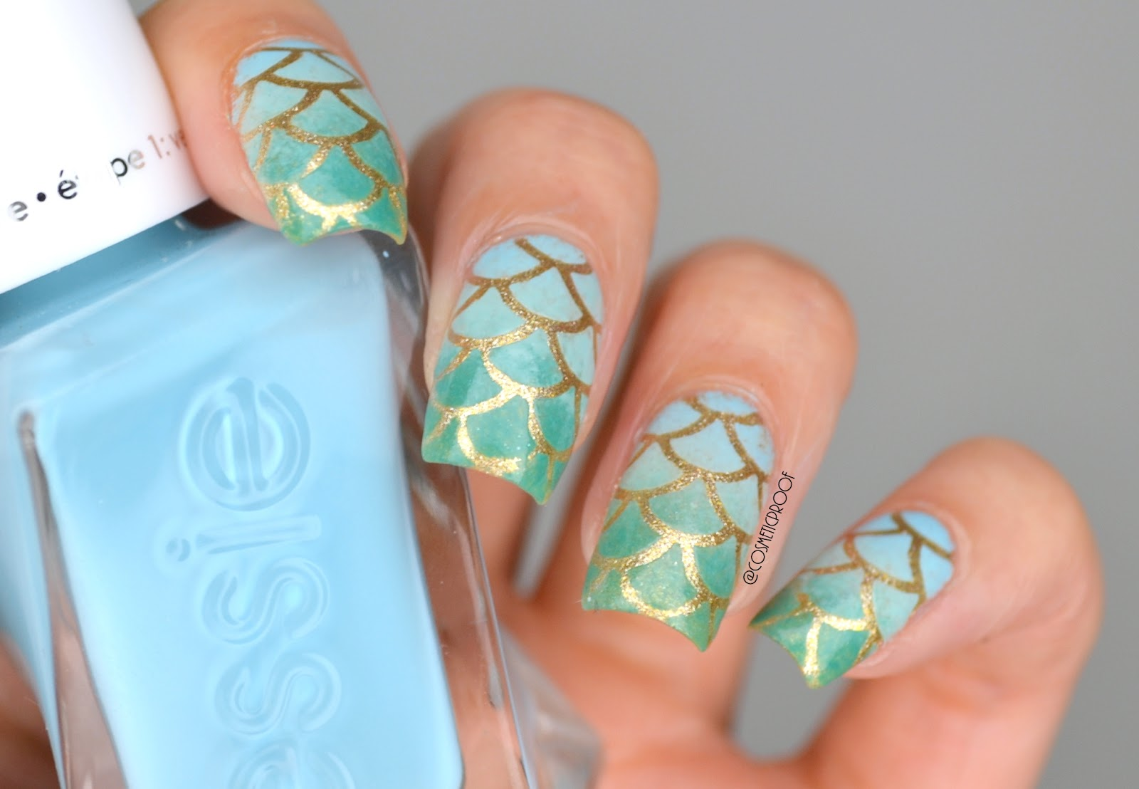 Nails Mermaid Scales Cbbxmanimonday Cosmetic Proof Vancouver