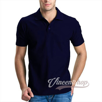 Kaos Polos Polo Shirt Navy