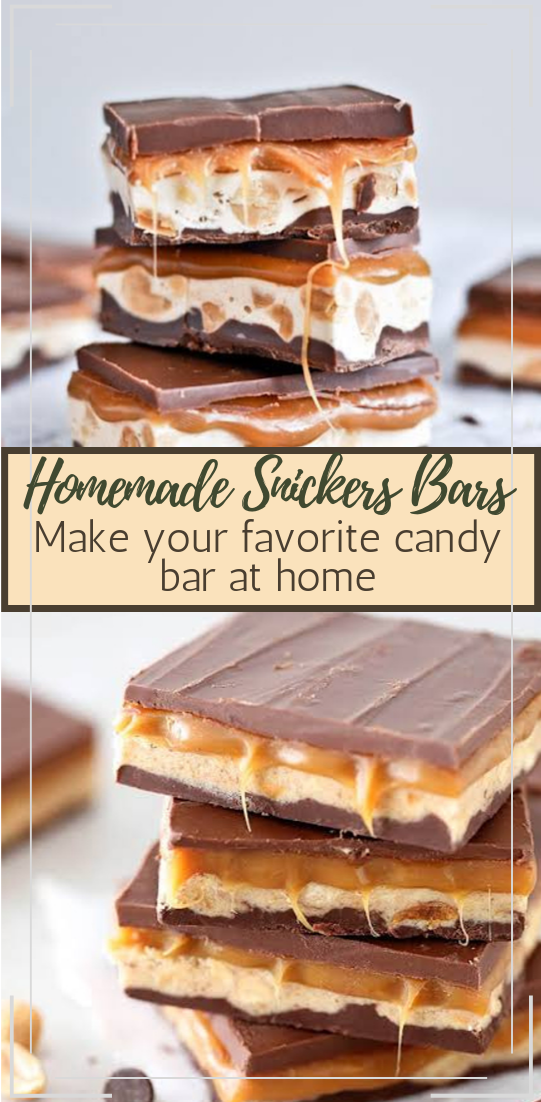 Homemade Snickers Bars #desserts #cakerecipe #chocolate #fingerfood #easy