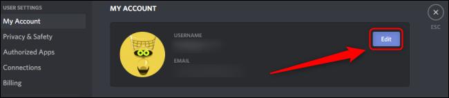 تعديل حساب Discord