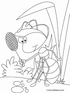 Detective Ant Search Candy  - Coloring Pages Print