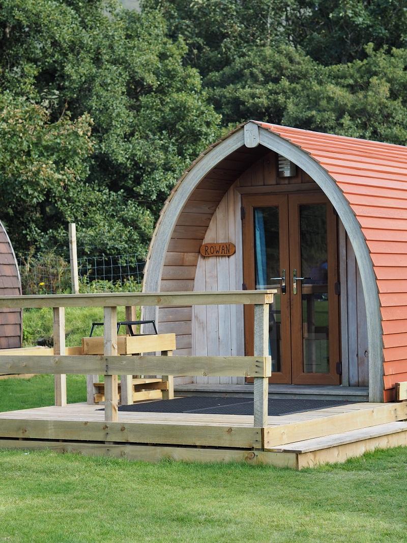 Rowan camping pod at Lochranza in the north west of Arran