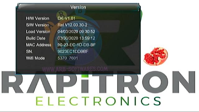 RAPITRON MINI HELIOS HEVC 1507G 1G 8M SCB4 YOUTUBE OK NEW SOFTWARE 30 MARCH 2020